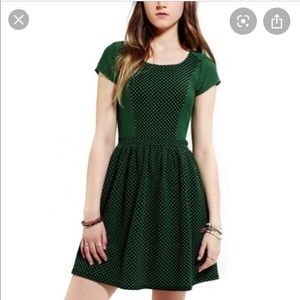 UO Cooperative school house fit flare dress green